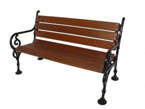 Litinová lavička Schonbrunn 3P, Smrková prkna 1,5m