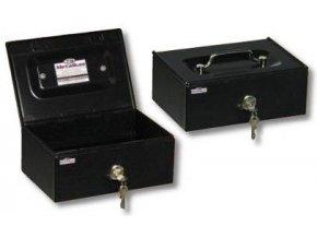 Příruční pokladna 6PSR 250x170x100 mm, univerzální mincovník, šedá
