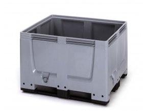 Paletový box 1200x1000x790 (BBG 1210), 670 l, 3 ližiny