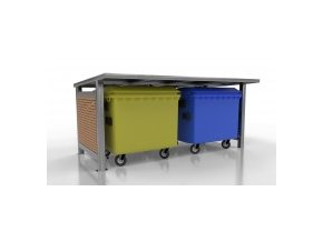 60923 pristresek pro odpadove kontejnery wood