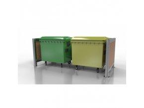 Přístřešek pro odpadové kontejnery Wood II
