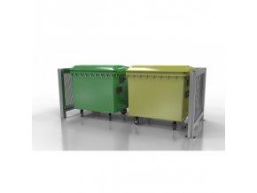Přístřešek pro odpadové kontejnery Duo II