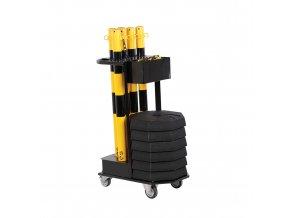 Transportní vozík se sloupky a řetězem