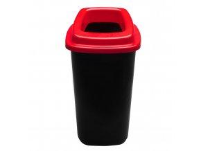 Plastový koš na tříděný odpad, 90 l, červená
