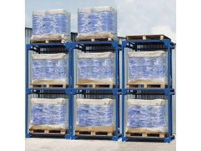 Vrchní koncová paleta pro skladovací buňky pro jednu Euro paletu