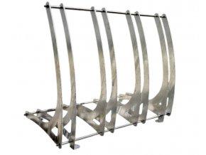 Modulární stojan na kola povrchová úprava: žárový zinek