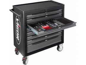 Dílenský vozík s nářadím VIGOR 1000XL, 8 zásuvek, 255 dílů - V4497