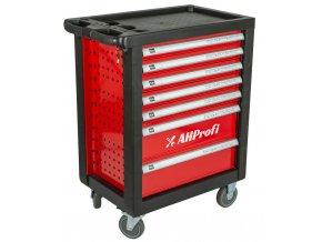Dílenský vozík prázdný 685x455x975 mm, 7 zásuvek - H14019P | AHProfi