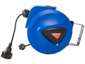 Samonavíjecí buben s elektrickým kabelem a zásuvkou 15m - XBEB01-15