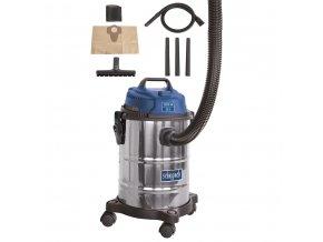 Průmyslový vysavač Scheppach ASP 15 ES, na suché/mokré vysávání