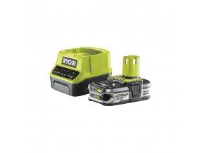 Sada 18 V lithium iontové baterie 2,5 Ah a nabíječky Ryobi RC18120-125