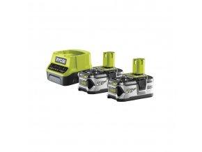 Sada 2x18 V lithium iontové baterie 4 Ah a nabíječky Ryobi RC18120-240