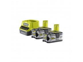 Sada 2x18 V lithium iontové baterie 5 Ah a nabíječky Ryobi RC18120-250