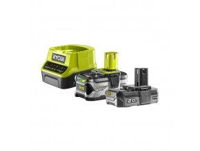 Sada 18 V lithium iontové baterie 2 Ah + 4 Ah a nabíječky Ryobi RC18120-242