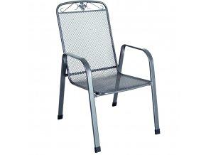 Stohovatelná zahradní židle z tahokovu MWH Savoy