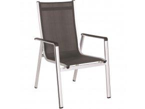 Zahradní hliníková židle MWH Elements, stohovatelná