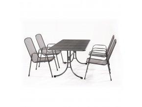 Zahradní stůl z tahokovu + 4 židle MWH Bani 4+
