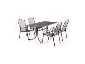 Zahradní stůl z tahokovu + 4 židle wMWH Banis 4+