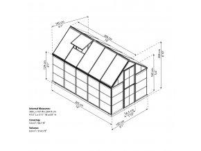 Zahradní skleník Palram hybrid 6x10
