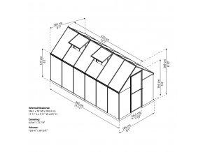 Zahradní skleník Palram multiline 6x12