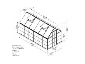 Zahradní skleník Palram hybrid 6x12