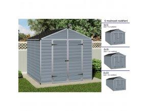 Zahradní domek Palram Skylight série 8 šedý