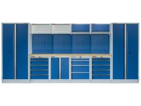 Kvalitní PROFI BLUE dílenský nábytek - 4535 x 2000 x 465 mm - MTGS1300AH Blue