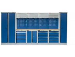 Kvalitní PROFI BLUE dílenský nábytek 4235 x 465 x 2000 mm - MTGS1300AJ Blue