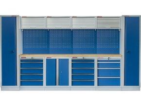 Kvalitní PROFI BLUE dílenský nábytek 3920 x 465 x 2000 mm - MTGS1300AN Blue