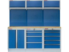 Sestava 6-ti ks PROFI BLUE dílenského nábytku 2040 x 465 x 2000 mm - MTGS1300BC Blue