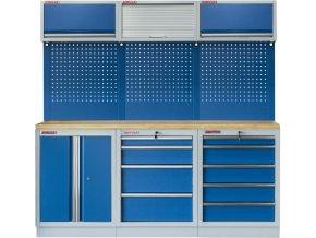 Sestava 6-ti ks PROFI BLUE dílenského nábytku 2040 x 465 x 2000 mm - MTGS1300BF Blue