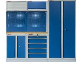 Sestava PROFI BLUE dílenského nábytku s vysokou širokou skříní 5 ks - MTGS1300WA Blue