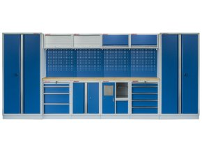 Kvalitní PROFI BLUE dílenský nábytek - 4535 x 2000 x 465 mm - MTGS1301AD Blue