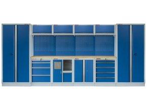 Kvalitní PROFI BLUE dílenský nábytek - 4535 x 2000 x 465 mm - MTGS1301AE Blue