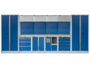 Kvalitní PROFI BLUE dílenský nábytek - 4535 x 2000 x 465 mm - MTGS1301AH Blue