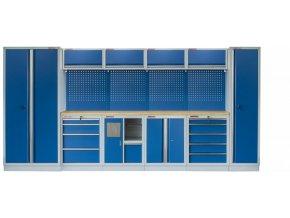 Kvalitní PROFI BLUE dílenský nábytek 4235 x 465 x 2000 mm - MTGS1301AI Blue