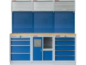 Sestava 6-ti ks PROFI BLUE dílenského nábytku 2040 x 465 x 2000 mm - MTGS1301RRRDD Blue