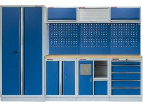 Sestava PROFI BLUE dílenského nábytku s vysokou širokou skříní 7ks - MTGS1301WA Blue