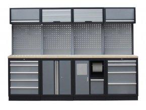 Sestava PROFI dílenského nábytku 2720 x 465 x 2000 mm - TGS1301BB