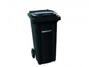 Plastová popelnice 120 L černá s kolečky