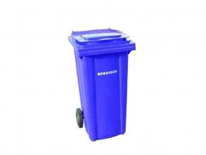 Plastová popelnice 120 L modrá s kolečky