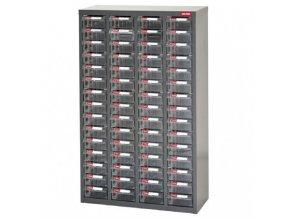 Galvanizovaný kovový organizér pro dílenský materiál a díly s 60 zásuvkami ST2-460