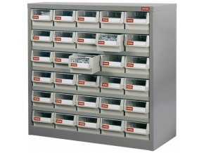 Kovový organizér dílenský s 30 zásuvkami pro náročné použití - HD-530