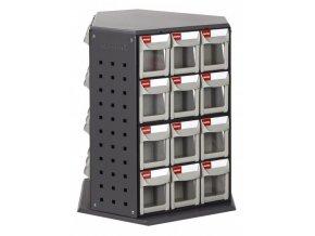 Otočný kovový dílenský organizér s 36 zásuvkami - RFO-636