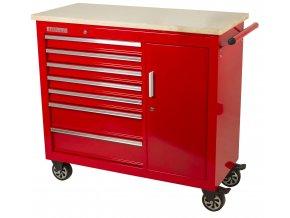 Pojízdný pracovní stůl / skříňka na nářadí s pracovní deskou - TBR-L4407E-X