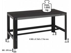 Pracovní stůl, prázdný VIGOR V2531