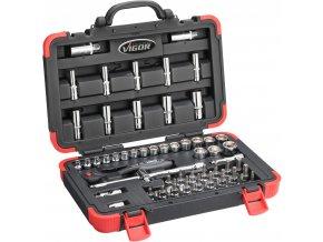 """Sada vnitřních nástrčných klíčů 3/8"""" v kufru, 61 ks Vigor - V2305N"""