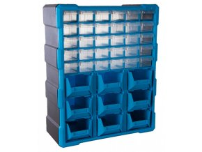 Plastový organizér / box na šroubky, 39 rozdělovníků - MW1501