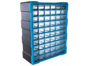 Plastový organizér / box na šroubky, 60 rozdělovníků - MW1505