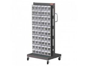 Mobilní organizér na šroubky do dílny, 120 boxů - MS-26000